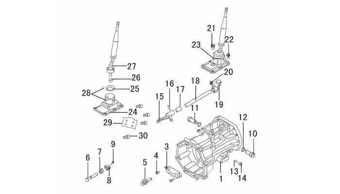 Картер КПП задний, рычаг переключения передач Great Wall Hover H3 New